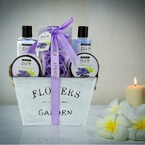 a basket of spa and aromatherapy